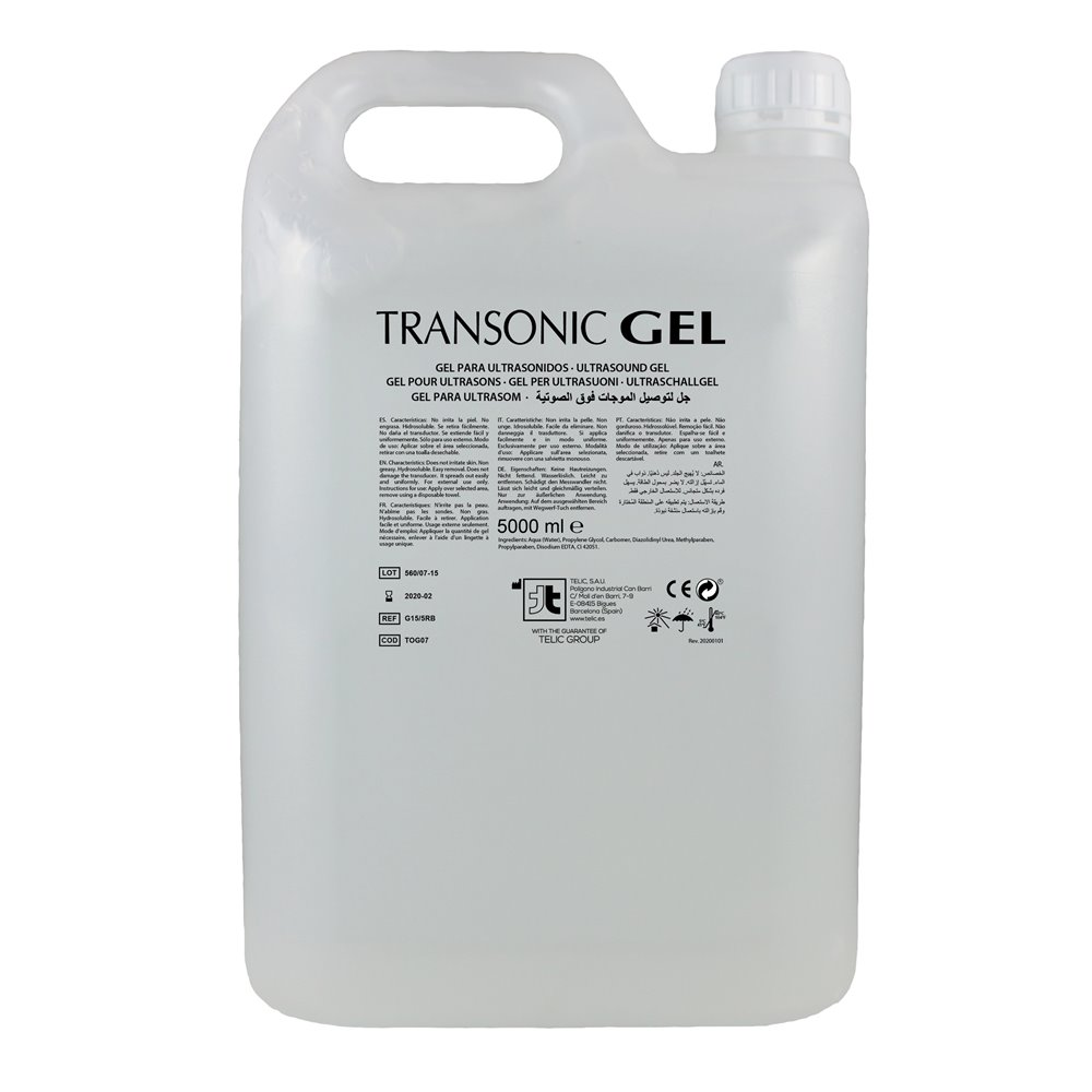 Gel para Ultrasonidos - Transparente GC-15/5RB - 5000ml